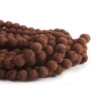 Lavasten, 14 mm, brun, 1 streng