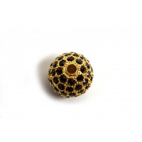 Kugle, m/mange sorte krystaller, FG, 14 mm, 1 stk.