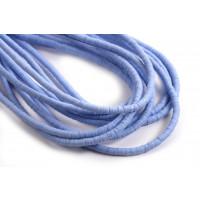 Polymer / fimo perler perler, 3x1 mm, lyseblå, 1 streng