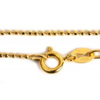 Halskæde, kuglekæde, 80 cm x 1,2 mm, FG 925s, 1 stk.