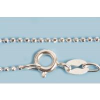 Armbånd, kuglekæde, 185x1,2 mm, sølv 925s, 1 stk.