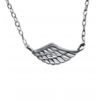 Plain Wing Necklace_halskæde_sterlingsølv