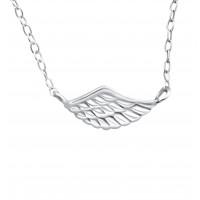 Plain Wing Necklace_halskæde_sterlingsølv