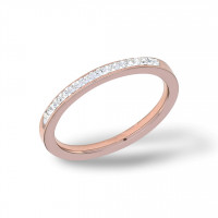 Plain Zirkonia Ring Rosegold