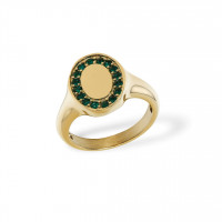 Signet Ring Zirkonia Golden