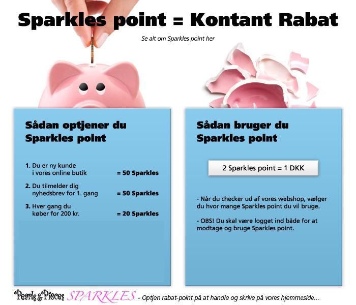 Sparkles - optjen rabatpoint på at købe eller anmelde produkter